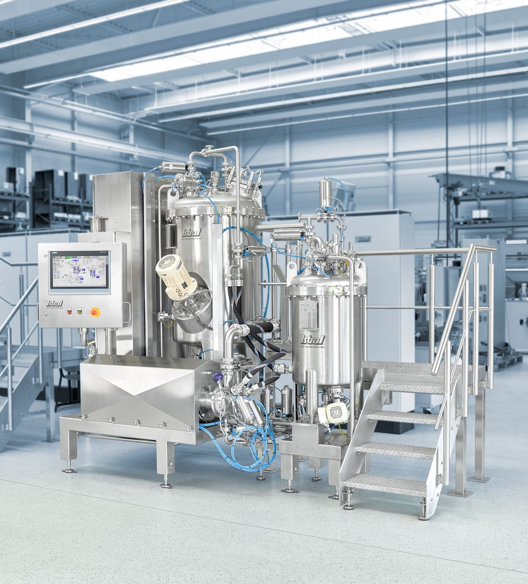 Process plant for tablet coating production